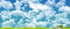 分层蓝天白云素材二图片