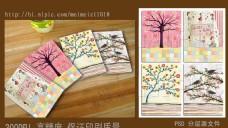 笔记本封面设计(油画风格树)