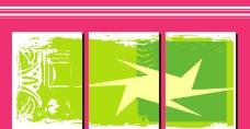 绿色 线条 抽象 无框画图片