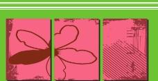 红色 桃心 线条 抽象 无框画图片