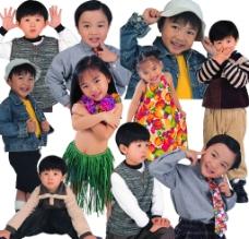 儿童幼儿动作素材图片