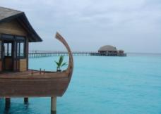 马尔代夫 伊露岛 海上别墅图片