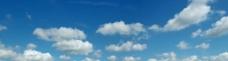 宽幅蓝天白云图片
