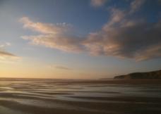 海岸日落风光图片
