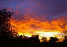 夕阳霞光美景图片