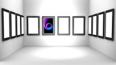 3d室内空白相框图片