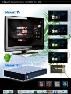 网路电视宣传单页图片