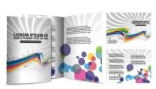 宣传画册 小册子 动感线条图片