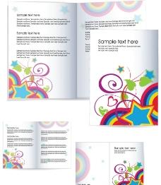 企业宣传画册设计 花纹 花朵 星星图片