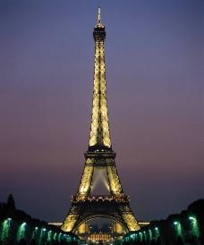 巴黎铁塔全景图片