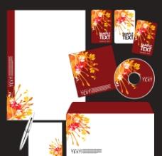 企业vi设计 秋天背景 秋季树叶花纹图片