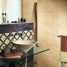 浴室卫生间瓷砖铺贴应用光影分层PSD图片