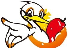可爱矢量鸭子图片