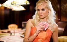 扑克牌上的美女