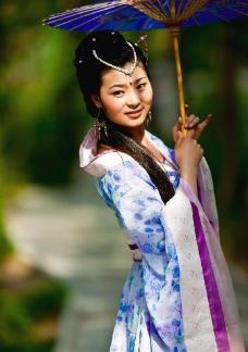 紫荆山 古装美女图片