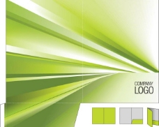 企业vi文件夹封面设计 动感线条光线图片