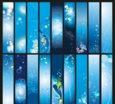 蓝色 展板 背景图片