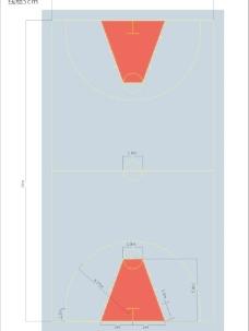 篮球场平面图图片