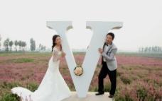幸福婚纱照图片