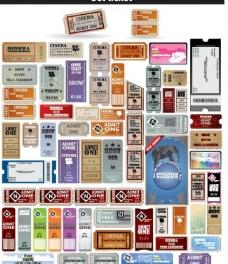 欧美票据 单据 边框 标签图片