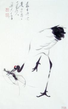 梁大年(一风山人) 国画 鹤图片