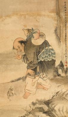 刘海戏蟾图图片