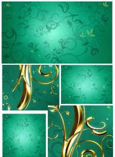 动态花纹生长高清素材图片