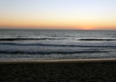 夕阳海景图片