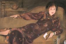 旗袍女人图片