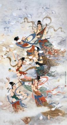 飞天仙女图片