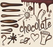 液体巧克力失量素材