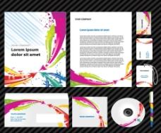 企业vi设计 动感线条曲线 箭头图片