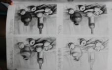 素描静物图片