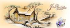 米黄色的风景图片
