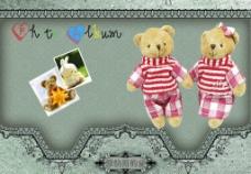 笔记本封面 熊 布熊 相框 可爱图片