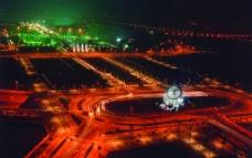 上海浦东世纪广场夜景图片