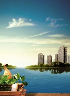 地产河 湖边美图图片