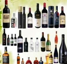 红酒洋酒酒瓶素材图片