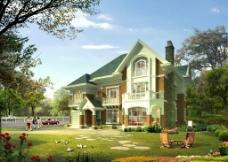 别墅景观设计图片