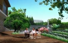 别墅景观透视图片