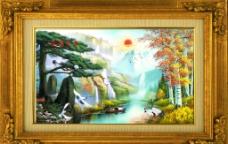 油画风景 山水风景图片