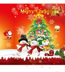 圣诞雪人圣诞树手提袋图片