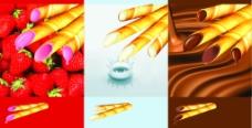 蛋卷饼干三种口味图片