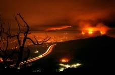 洛杉矶夜火图片