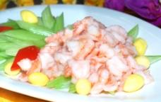 翡翠虾仁图片