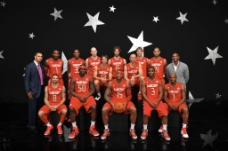NBA2010西部全明星合照图片