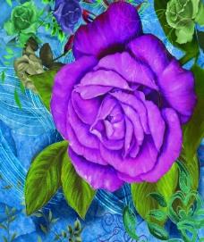 油画牡丹图片