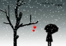 一个人的下雪天图片