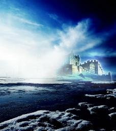 神秘的海上城堡图片