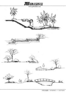 建筑景观手绘